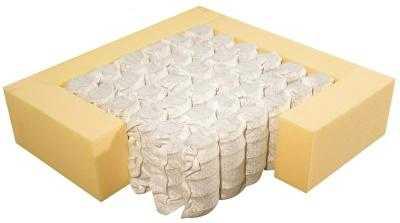 Almofada de molas com 48cm x 48cm x 10cm. Imagem ilustrativa - as espumas não fazem parte da almofada