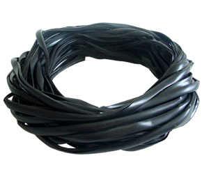 Perfil tipo Francis (cor: preto) 13mm