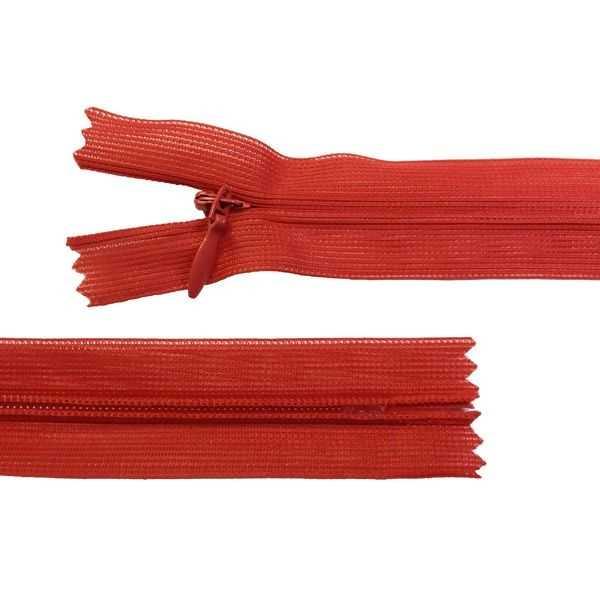 Zíper Invisível Vermelho