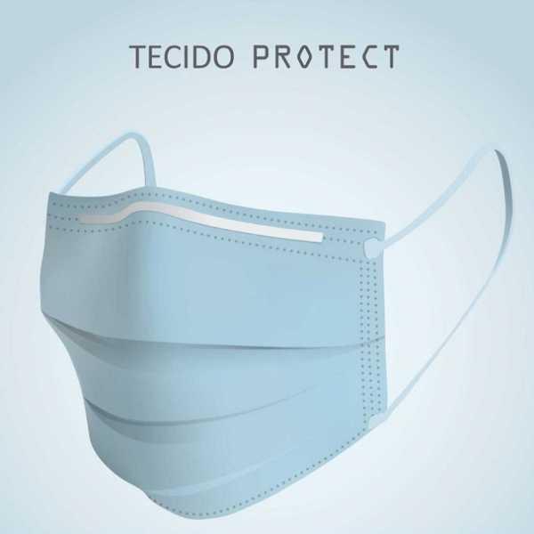 Tecido Protect Hospitalar Azul Alvejado