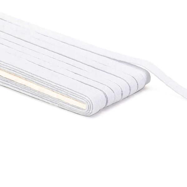 Elástico Branco chato 6mm - por metro
