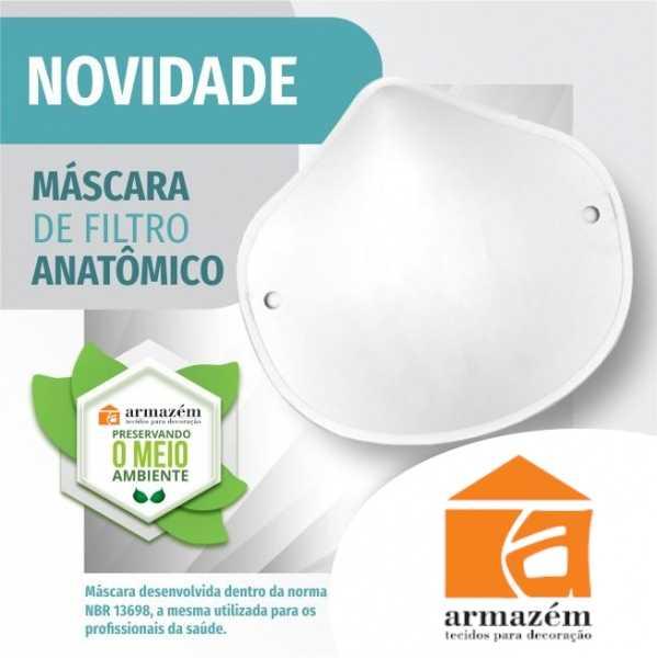 Máscara de Filtro Anatômico Branca - 10 und